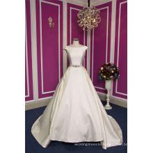 Satin Beading Bow Ball Prom Evening Bridal Wedding Dress