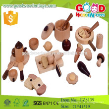 new design Korean cooking set nature wooden pretend play toys