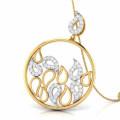 14k Gold Over Silver Water Drops Cubic Zircon Pendants
