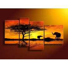 Canvas African Art Painting for Wall Decor (AR-154)