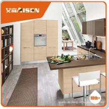 Schönes Aussehen mfc Küchenschrank mit Holzfurnier