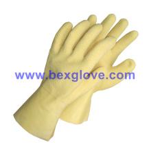 Baumwoll-Jersey-Liner, Latex-Beschichtung, Ripple Styled Crinkle Finish, 35cm Länge Handschuh