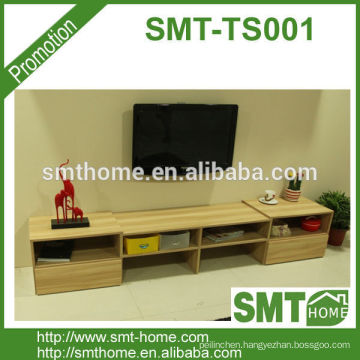 new design flat package wood melamine tv stand