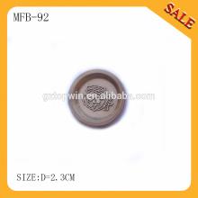 MFB92 2015 Nouveau logo de marque logo gaufré en métal pour vêtements