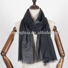Lurex plata merceized bufanda de lana