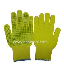 Gants en nylon colorés Gants de jardin ponctués en PVC Gant de travail de sécurité