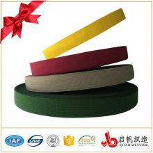 Tissu à tricoter sangle en nylon de couleur personnalisée pour le vêtement