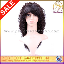 Good Quality Brazilian Curl Virgin Human Hair Curly Afro Kinky Full Lace Wigs