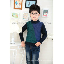 Suéter de punto con manga larga estampada Karen Boys Design