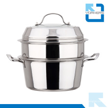 Multi-Purpose Double Layers Stainless Steel Steamer Pot