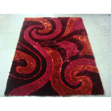 Chinese Silk Shaggy Polyester 3D Carpet