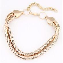 Alibaba nuevo diseño de la cadena de oro de oro para hombres pulsera de la cadena de mano de oro