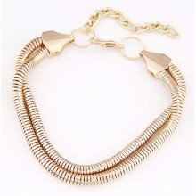 Alibaba wholesale new gold chain design for men gold hand chain bracelet