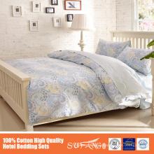2015 nuevo producto de la venta caliente 100% algodón bordado juego de cama utilizado en el hotel bordado funda nórdica fundas de almohada para hoteles
