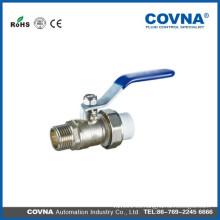 Válvula de bola de latón con rosca macho / conexión PPR