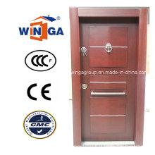 África Security Steel MDF Madeira folheada porta blindada (W-T27)