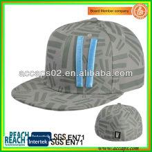 100% Acrylique Snapback Chapeaux Gris SN-1220