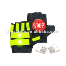 LED lighted police safety glovesJRM62