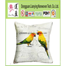 England Style Squre Shape Linen Throw Pillow