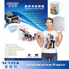 Jato de Tinta Imprimindo Papel de Transferência de Sublimação de Calor 100GSM A3 A4