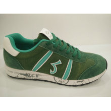 Green Cow Suede Comfort Fitness Running Shoes for Men