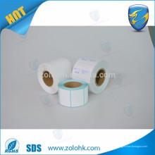 China fornecedor registro rolo de papel térmico tamanho personalizado rolo de papel térmico em branco direto com alta qualidade