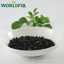 le type d'acide humique de libération rapide worldful humate le fertilisant d'agr, le cristal brillant humate de potassium