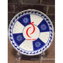 China Azul e branco placa de porcelana azul e branca