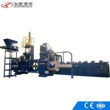 Machine horizontale de briquettes de ferraille de copeaux d'acier