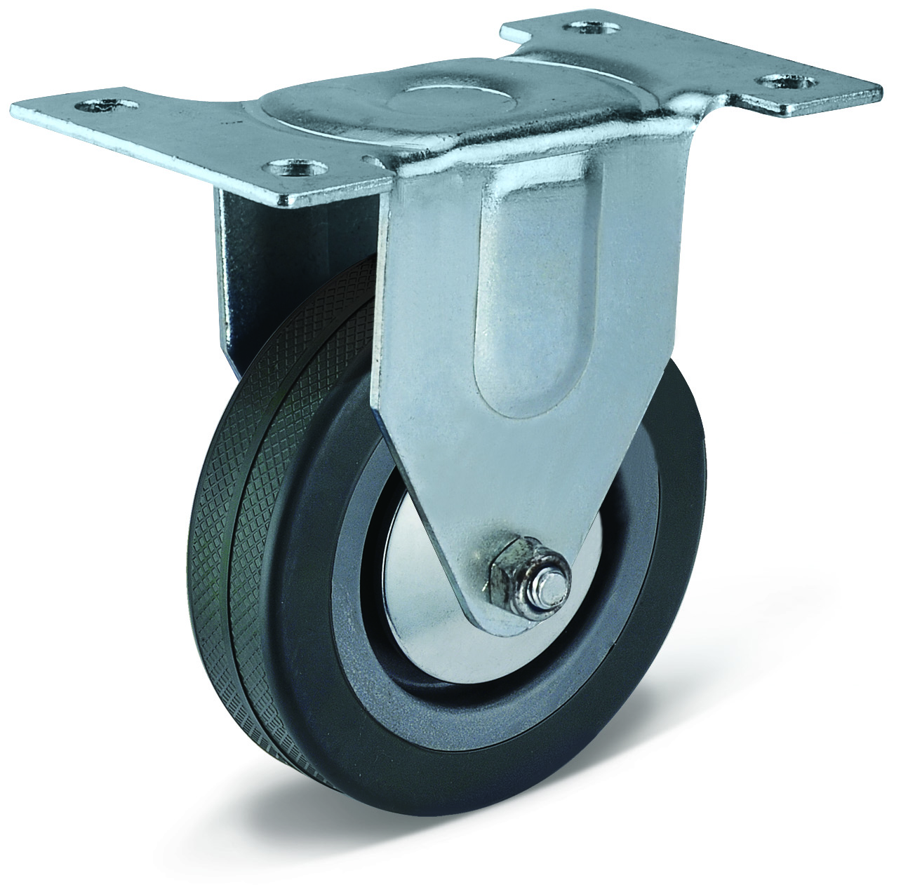 PVC Flat Bottom Fixed Casters