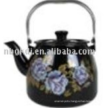 color enameled porcelained kettle with bakelite handle