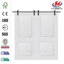 60 polegadas x 80 polegadas Cambridge Smooth Composite dupla porta celeiro com porta deslizante Hardware Kit