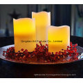 Flameless Colorful LED Candle-Dripping Finish Ensemble de 3