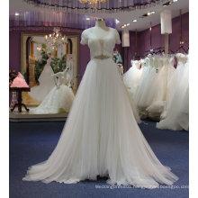 A Line Simple Beach Empire Tulle Bride Wedding Dress