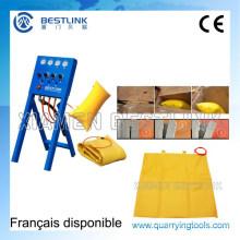 Bestlink empujando la bolsa de aire para el corte del bloque de mármol