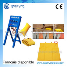 Reparable&Reusable Block Wall Stone Air Pushing Down Bag