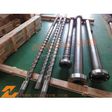 Single barrel and screw for extruder machine