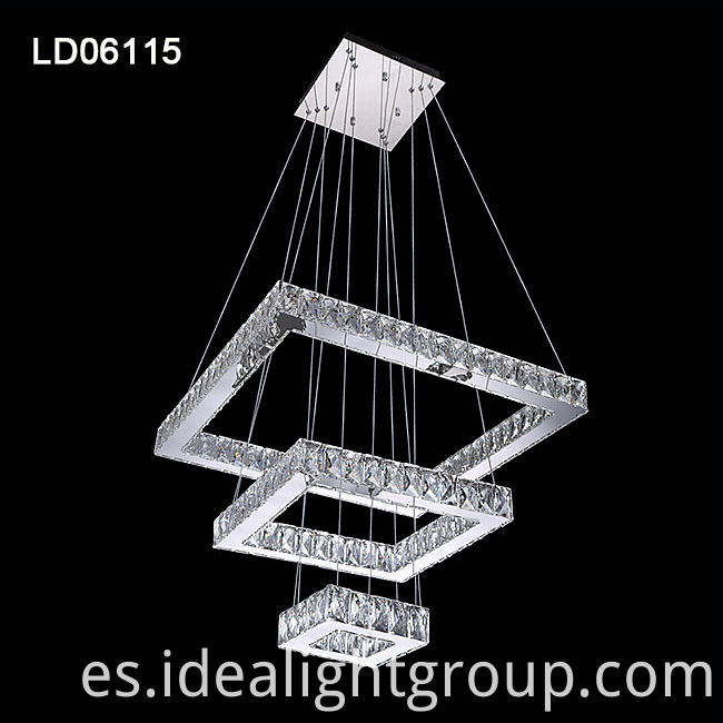 3 rings led chandelier