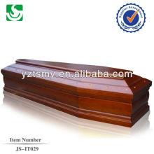 Cercueil en bois massif couleur rose mdf européen