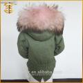 2017 Hot Sale Cheap Fox Ladies Coat Child Fur Parka