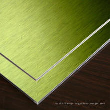 Rigid mirror/brush finished aluminum composite wall panel with factory price