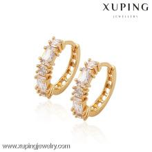 (90031) Pendiente plateado oro de alta calidad de Xuping Fashion 18K