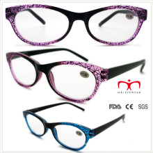Ladies lentes de lectura de plástico con patrón de telaraña (wrp508329)