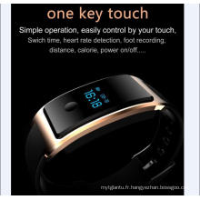 Montre intelligente de téléphone imperméable à l'eau intégré dans l'USB Wechat Interconnexion Moniteur de fréquence cardiaque La surveillance du sommeil Bluetooth Super - Long Standy