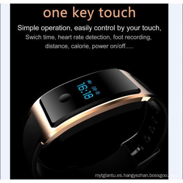 Smart Wrist Watch impermeable incorporado Wechat USB Interconexión monitor de frecuencia cardíaca El Bluetooth Sleep Monitoring Super - Long Standy