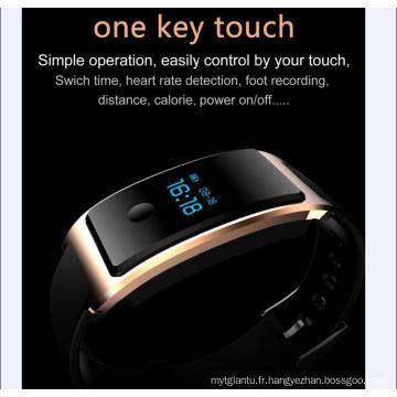 Montre intelligente de poignet imperméable à l'eau intégré dans l'USB Wechat Interconnexion Moniteur de fréquence cardiaque La surveillance de sommeil Bluetooth Super - Long Standy