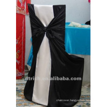self-tie back chair cover,CT242 satin chair cover,universal chair cover