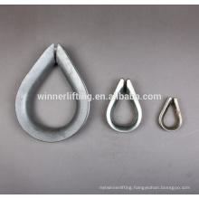 european type high quality big heavy duty steel wire thimble