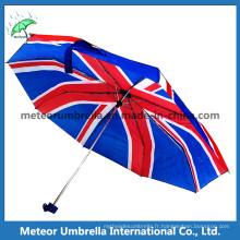 Royaume-Uni drapeau imprimé parapluie en 3 plis mini