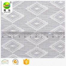 Eco friendly 100% polyester white lace fabric
